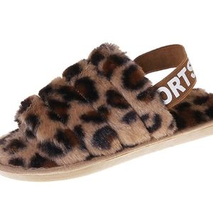 Womens Fuzzy Fluffy Sandals House Slippers Soft